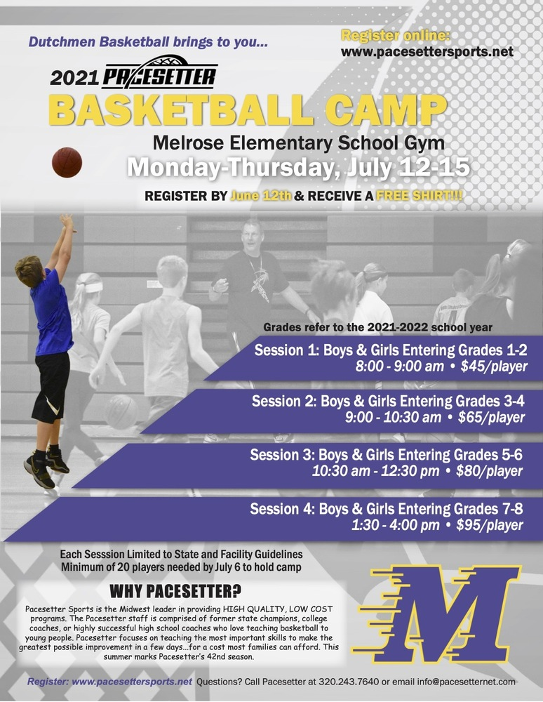 Summer Pacesetter Basketball Camp!