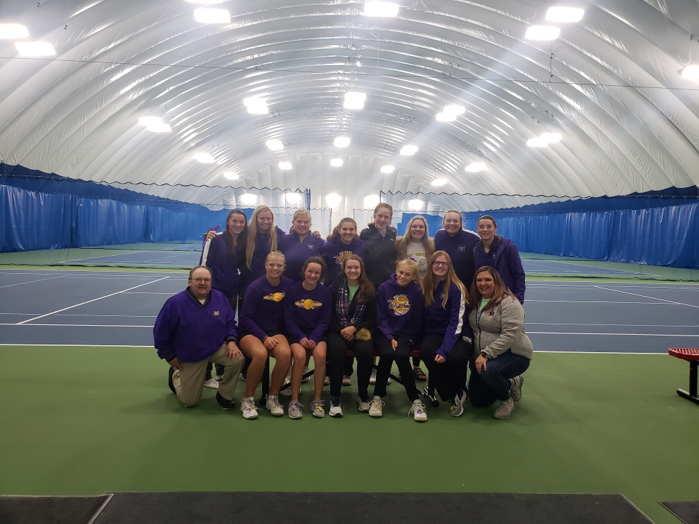 Tennis team at Sections.