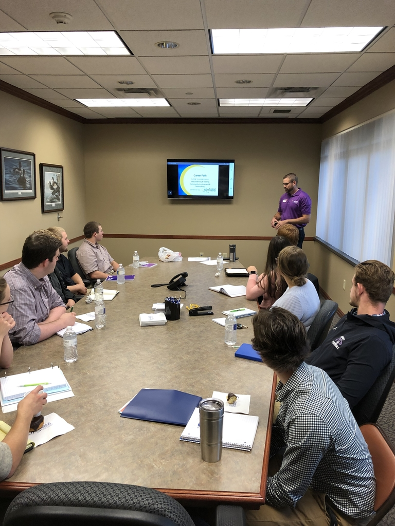 CEO students attend a class session at Central Minnesota credit Union, Albany branch.