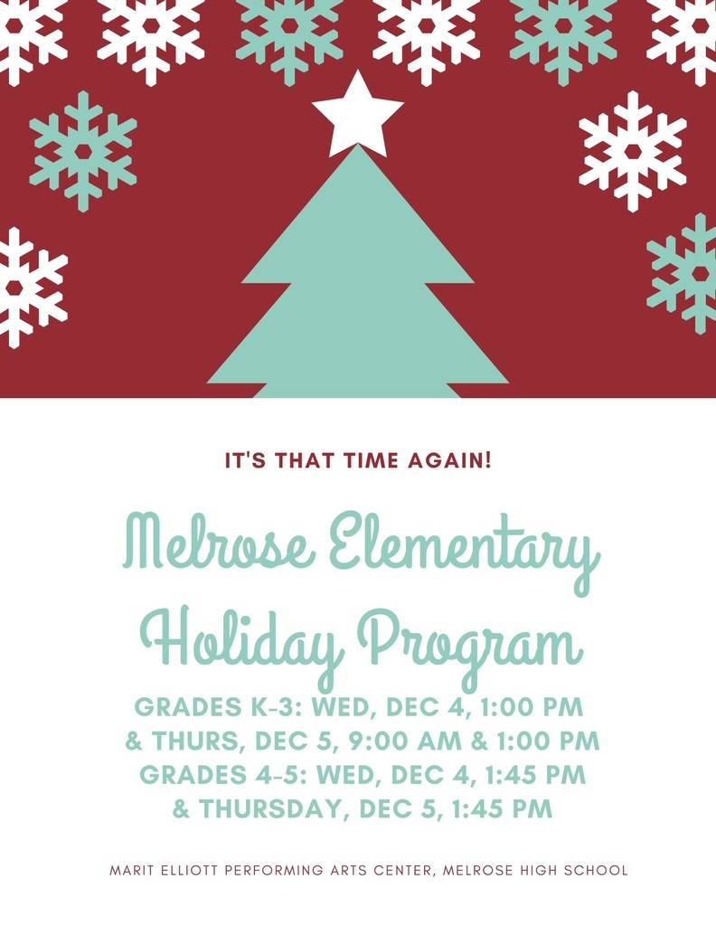 Holiday Program Info