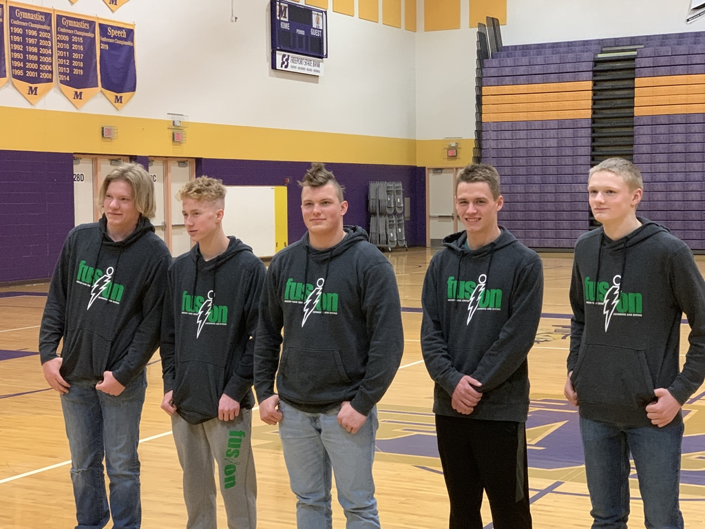 Nick Finken, Zachary Ruoff, Owen Gerads, Tyler Pohlmann, and Adam Wilwerding honored today at a State Sendoff at Melrose Area!!  Good luck at State Swimming!!!!