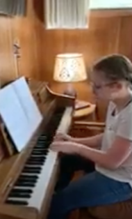 Ramona L-T plays piano